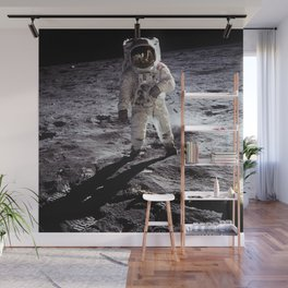 Apollo 11 - Iconic Buzz Aldrin On The Moon Wall Mural