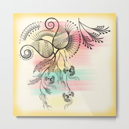 Decorative Floral Metal Print