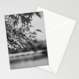 Autumn Scene (Black and White) Stationery Cards