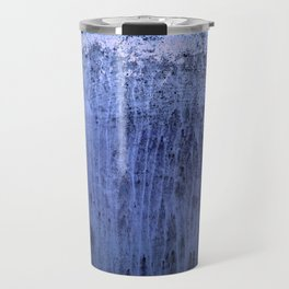 Old blue window at night Travel Mug