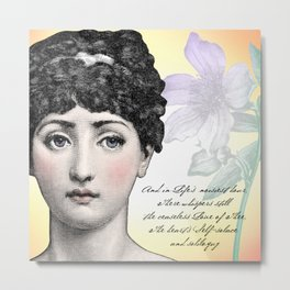Poetry Girls: Fornasetti Girl Metal Print