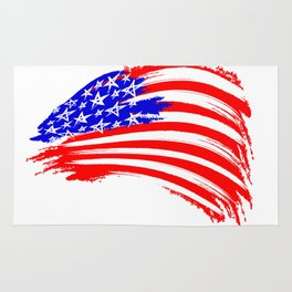 USA Sketched Flag Rug