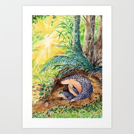 Animals from Formosa -The Chinese pangolin Art Print