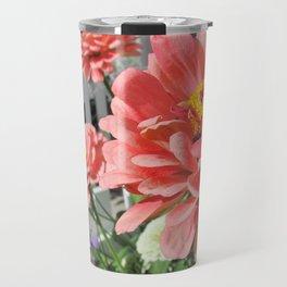 Bee Pollinating Flowers Travel Mug