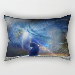Cyberspace Cat Rectangular Pillow