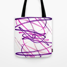 Twisted Violet Fuchsia Abstract Lines Tote Bag
