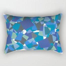 Blue Mosaic Rectangular Pillow