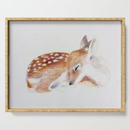 Sleeping Fawn Serving Tray