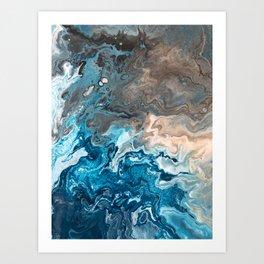Earthy Waves 1 Art Print