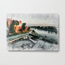 Cracow art 8 Wawel #cracow #krakow #city Metal Print