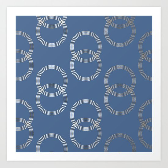 Simply Infinity Link in White Gold Sands on Aegean Blue Art Print