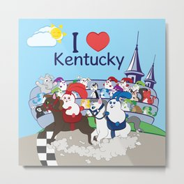 Ernest and Coraline | I love Kentucky Metal Print