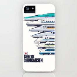 Shinkansen Bullet Train Evolution - White iPhone Case