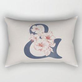 Hibiscus Ampersand Rectangular Pillow