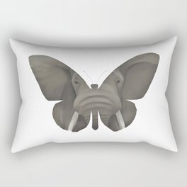 Elephant Butterfly Rectangular Pillow