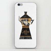 coffee iPhone & iPod Skins featuring Coffee by Elisabeth Fredriksson