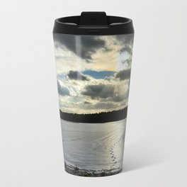 Snow-Covered Field in Franklin, Maine (2) Travel Mug