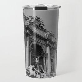Monochrome Trevi Fountain Travel Mug