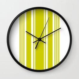 Chartreuse Stripe Wall Clock