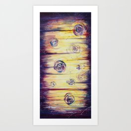 Swirls & Sharp Edges - Abstract Acrylic painting Art Print