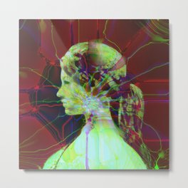 Fractal Abstract Female Metal Print
