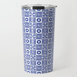 Lines and Shapes - Dutch Blue Travel Mug