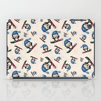 snowboarding iPad Cases featuring Too Cool to Penguin by Schwebewesen • Romina Lutz