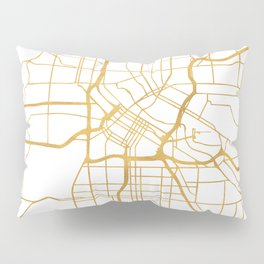 MINNEAPOLIS MINNESOTA CITY STREET MAP ART Pillow Sham