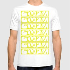 Banana MEDIUM Mens Fitted Tee White