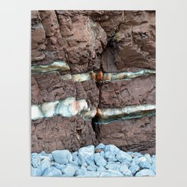 Colourful Rock Abstract Poster