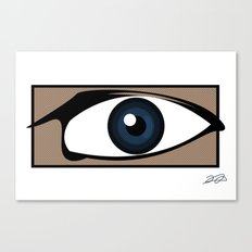 Blue Gaze Canvas Print