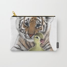 Tiger Cub and Duckling Carry-All Pouch