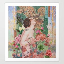 Oriental Rose Art Print