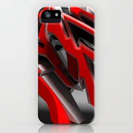 Raptor 3d graffiti  iPhone Case