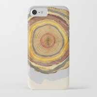 tree rings iPhone & iPod Cases featuring Tree Rings by Rachael Shankman