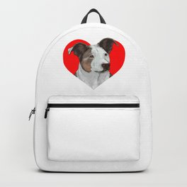 Pit Bull Heart Backpack