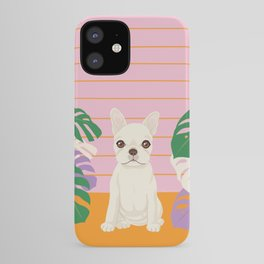 Frenchie and Monstera iPhone Case