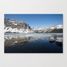 Bow Lake Frozen | Alberta Canvas Print