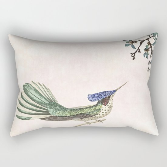 merry in the blossoming Rectangular Pillow