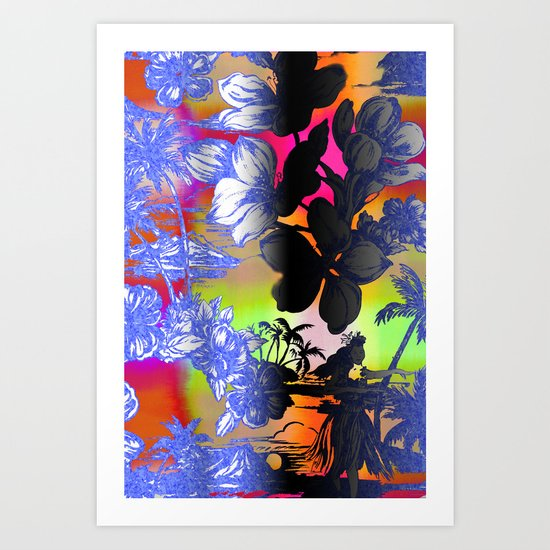 Hula Dyed Art Print