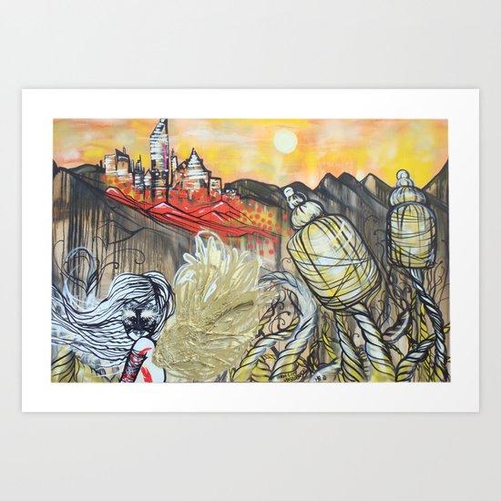 Porn City Masquerade Art Print