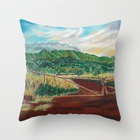 country Throw Pillows featuring Country by Art by Risa Oram