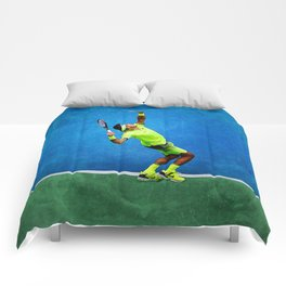 Del Potro Tennis Serve Comforters