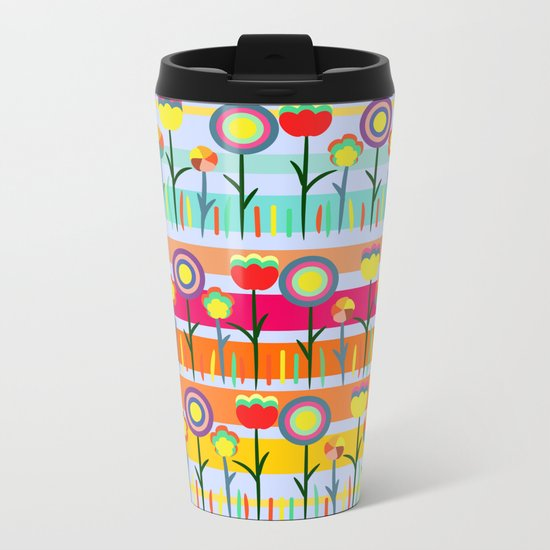 Floral spring party Metal Travel Mug