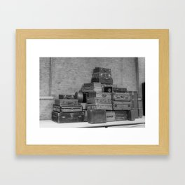 Vintage Luggage Framed Art Print