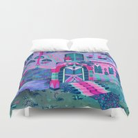 house Duvet Covers featuring Bertram's House by Valeriya Volkova