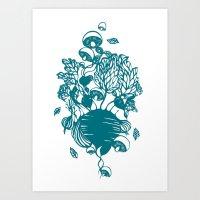 vegetables Art Prints featuring Vegetables  by Sarah Dennis