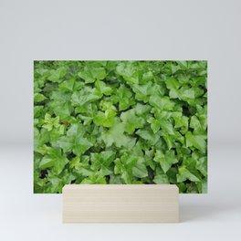 Plant patterns in green Mini Art Print