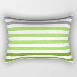 Stripes Gradient - Green Rectangular Pillow