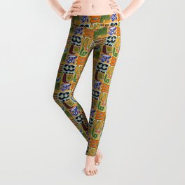 Narrative and Symbolic Signs Pattern Leggings